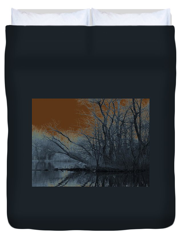 Solarization Duvet Cover featuring the photograph Solarization by Kendall Eutemey