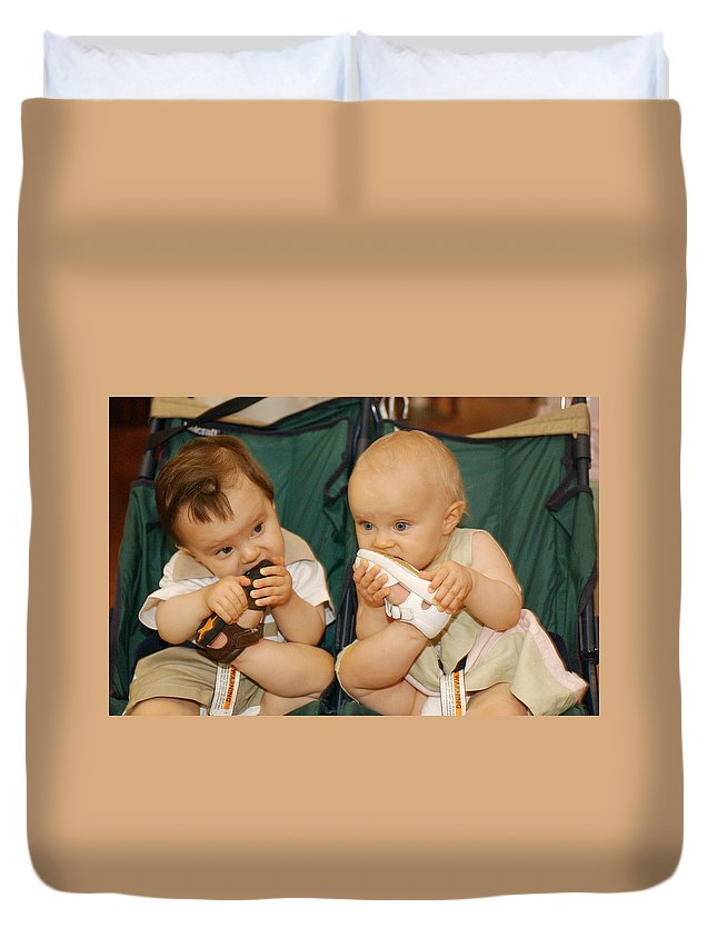 Feet Duvet Cover featuring the photograph Sole Food by Jill Reger