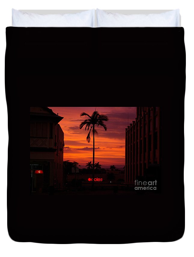 Innisfail Duvet Cover featuring the photograph Solitary Passage by Kerryn Madsen- Pietsch
