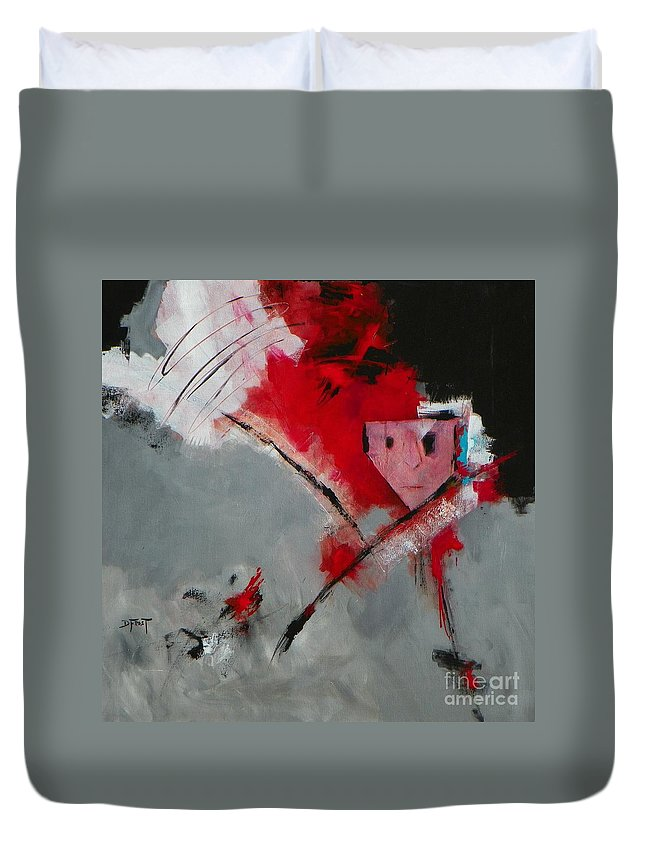 Abstract Expressionism Duvet Cover featuring the painting Solitude 003 by Donna Frost