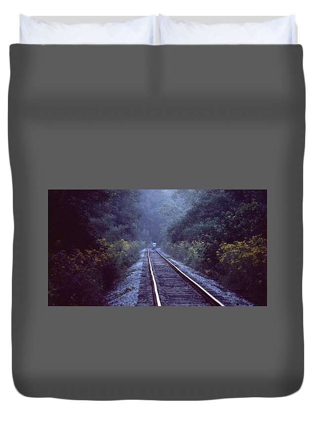 Walking Duvet Cover featuring the photograph Solitude 031307-66 by Mike Davis