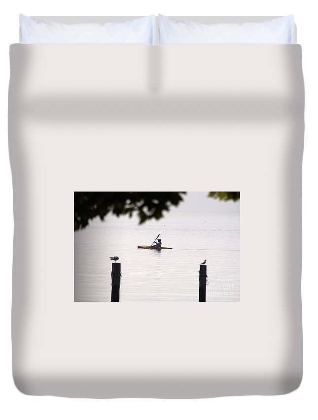 Clay Duvet Cover featuring the photograph Solitude by Clayton Bruster