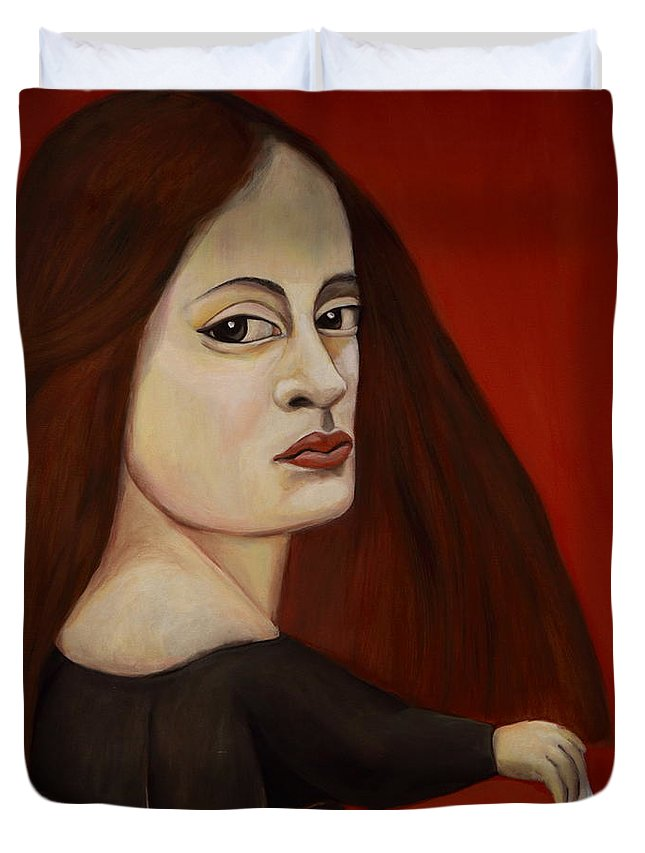 Duvet Cover featuring the painting Solo Es Un Juego by Francis Iranzo