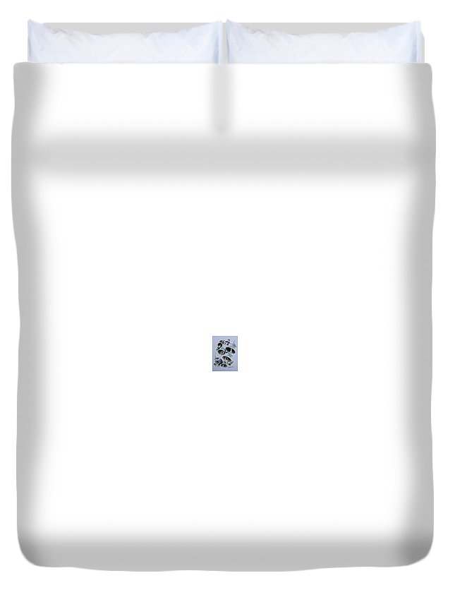Bells Duvet Cover featuring the drawing Solstice Bells by Michael Beckett