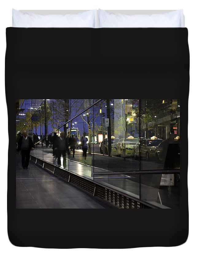 Somebody Duvet Cover featuring the photograph .somebody. by Kelly Jade King