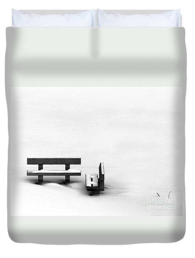 Black Duvet Cover featuring the photograph Someone To Hear You When You Sigh by Dana DiPasquale