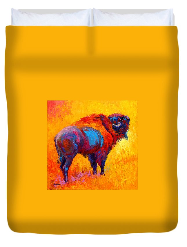Wildlife Duvet Cover featuring the painting Something In The Air by Marion Rose