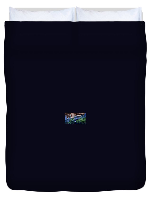 Strange House Duvet Cover featuring the digital art Something To Watch Over Me by Seth Weaver