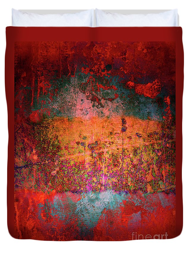 Texture Duvet Cover featuring the digital art Sometime In The Beginning by Tara Turner