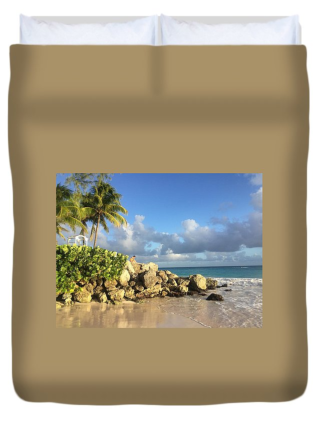 Caribbean Duvet Cover featuring the photograph Somewhere in Barbados by Cindy Ross
