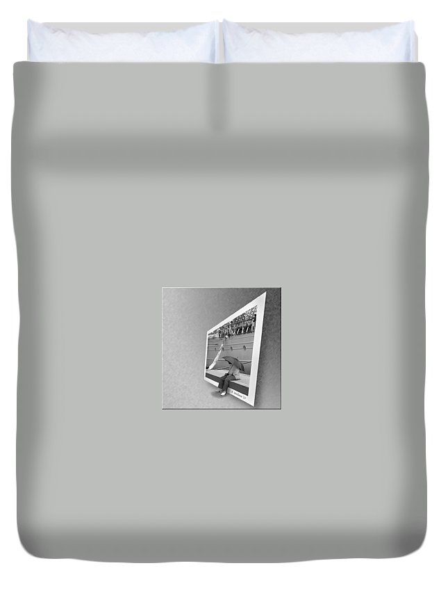2d Duvet Cover featuring the photograph Somewhere It Is Raining by Brian Wallace