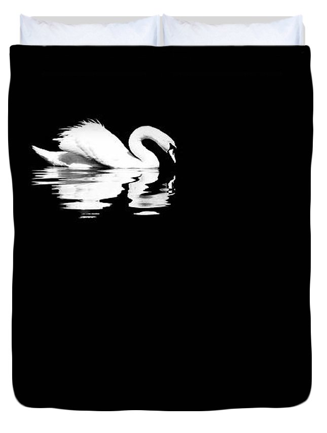 Swan Duvet Cover featuring the photograph Song Of Songs I by Deb Cohen
