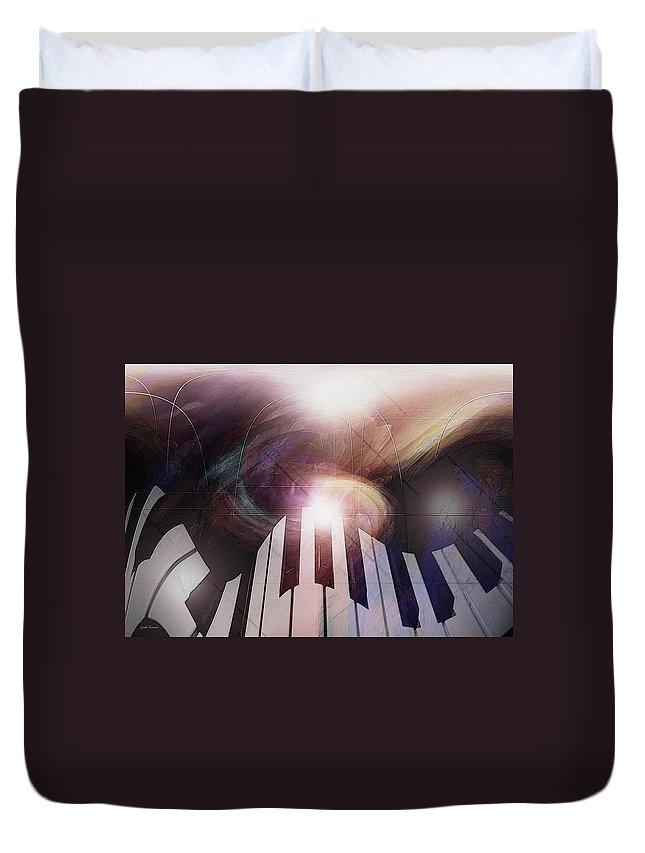 Keyboard Art Duvet Cover featuring the photograph Sonic Light by Linda Sannuti