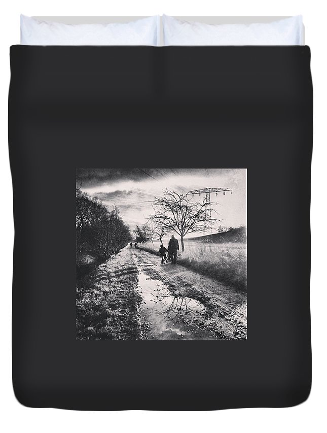 Nordhausen Duvet Cover featuring the photograph *sonntagsspaziergang  #landscape by Mandy Tabatt