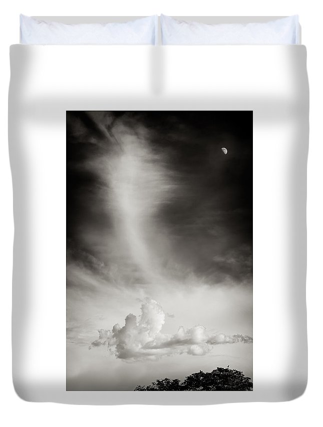 Skyscape Duvet Cover featuring the photograph Sonoita Sky by DeAnn Peterson