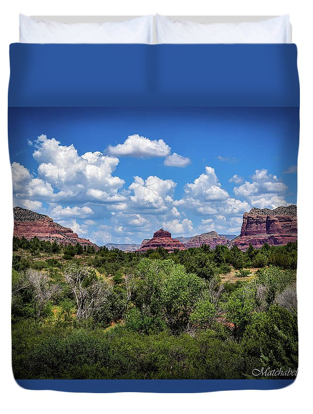 Landscape Photography Duvet Cover featuring the photograph Sonoran Countryside by Eric M Bass