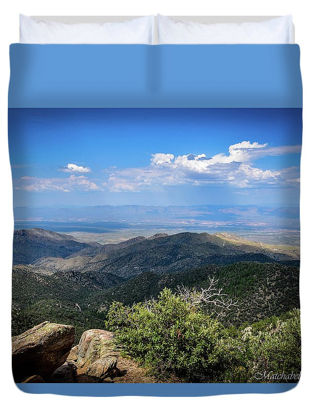 Landscape Photography Duvet Cover featuring the photograph Sonoran Hillside Lookout by Eric M Bass