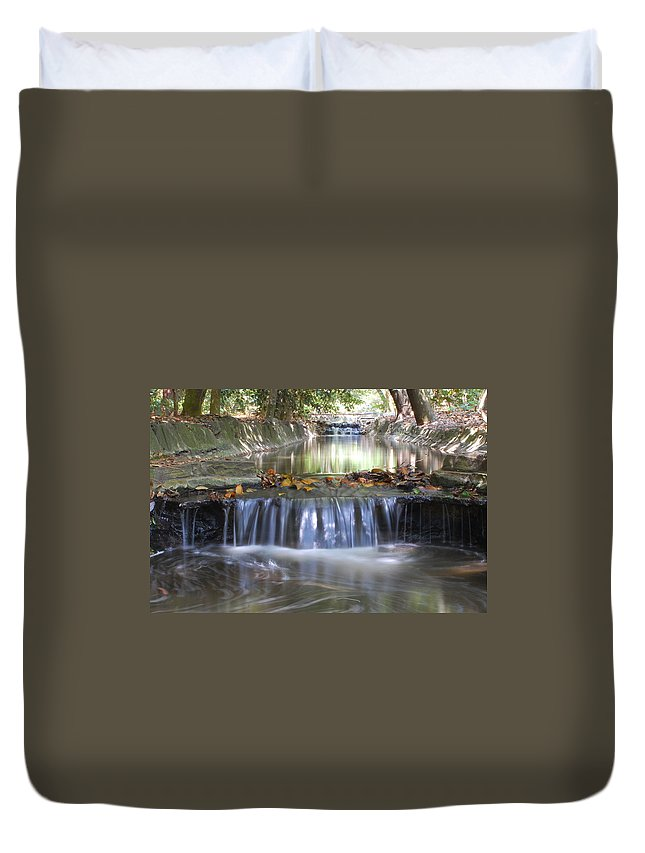 Water Duvet Cover featuring the photograph Soothing Waters by Amy Fose