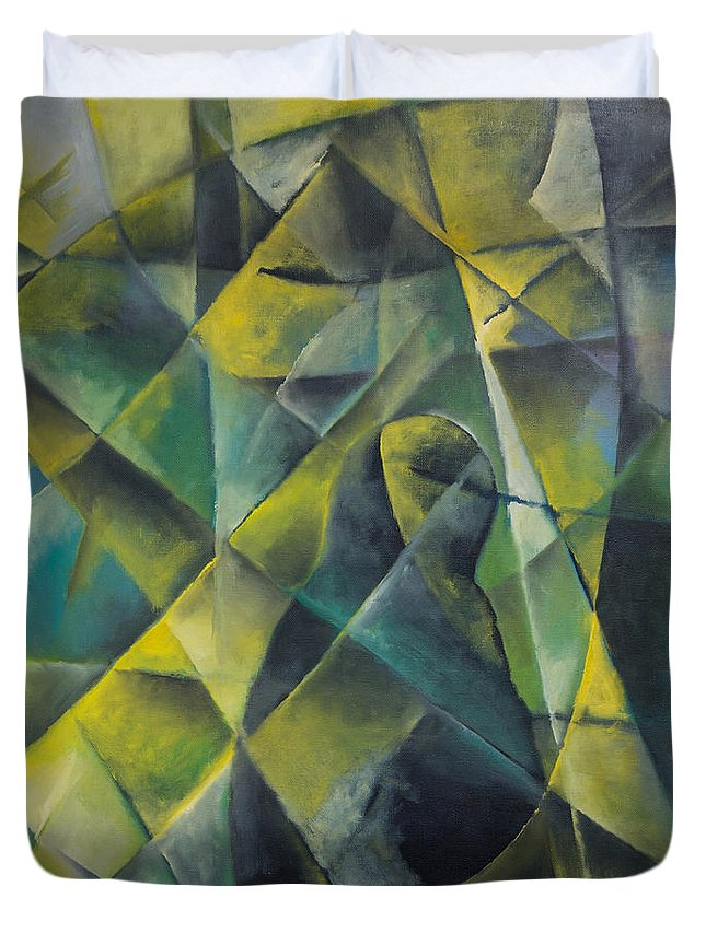 Abstract Duvet Cover featuring the painting Sorrow by Ilgar Talibov