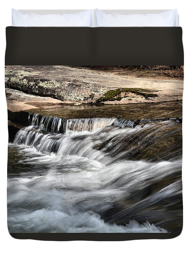 North Carolina Duvet Cover featuring the photograph Sosoothing by Mike Fairchild