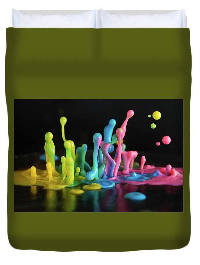 Sound Duvet Cover featuring the photograph Sound Sculpture by William Freebilly photography