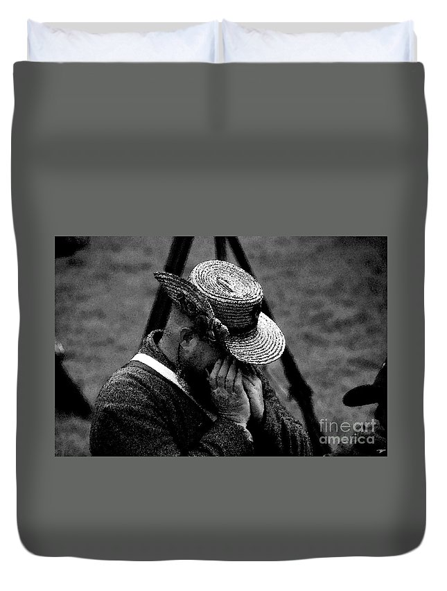 Art Duvet Cover featuring the painting Sounds Of The Old West by David Lee Thompson