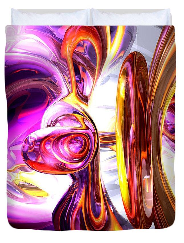3d Duvet Cover featuring the digital art Soundwave Abstract by Alexander Butler