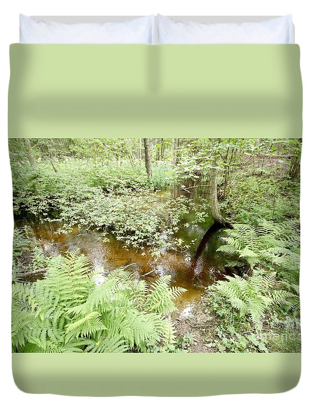 Source Duvet Cover featuring the photograph Source by Esko Lindell