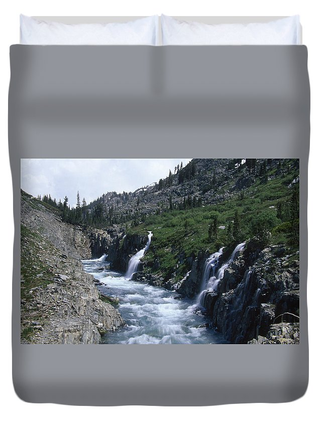 South Fork San Joaquin River Duvet Cover featuring the photograph South Fork San Joaquin River by Soli Deo Gloria Wilderness And Wildlife Photography