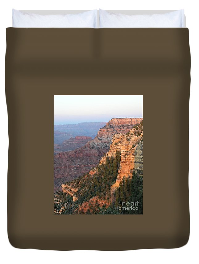 Sunset Duvet Cover featuring the photograph South Rim Sunset by Louise Magno