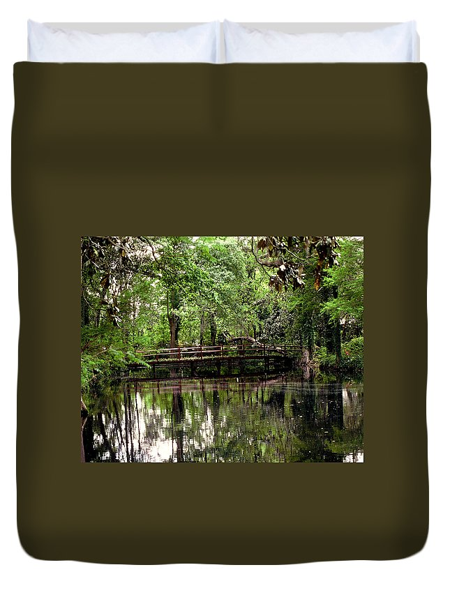 Bridge Duvet Cover featuring the photograph Plantation Living by Gary Wonning