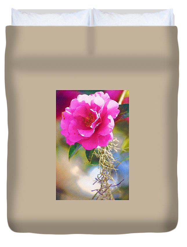 Rose Duvet Cover featuring the digital art Southern Rose by Donna Bentley