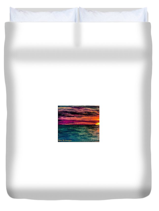 Sunset Duvet Cover featuring the painting 'southern Sunset' by Ruben Pennington