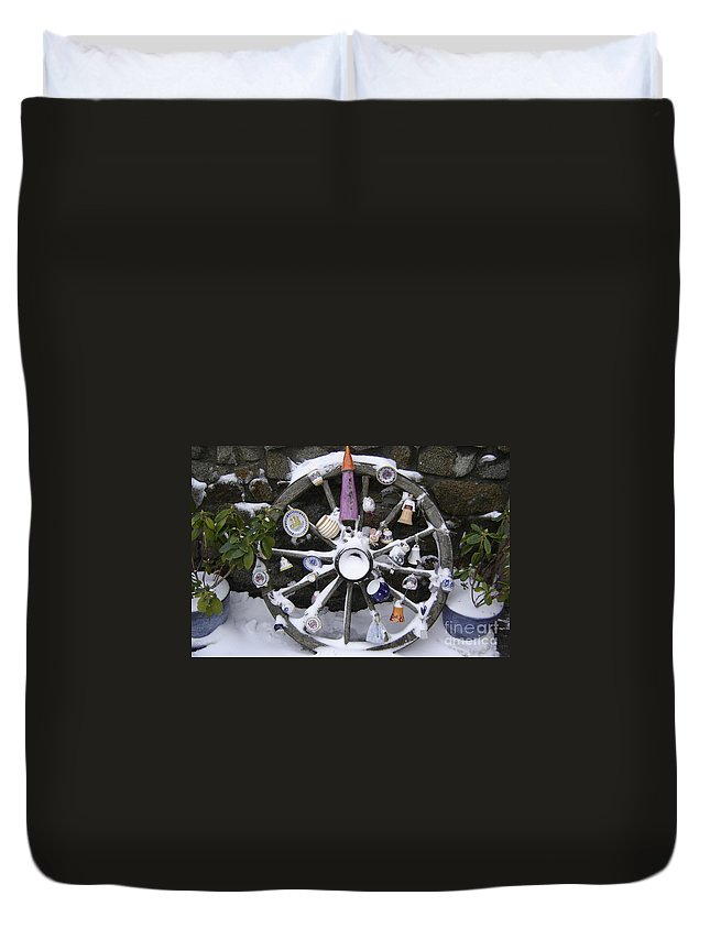 Snow Duvet Cover featuring the photograph Souvenirs by Mary Rogers