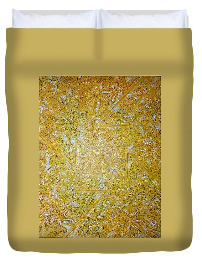 Spiritual Duvet Cover featuring the painting Sowillo by Joanna Pilatowicz