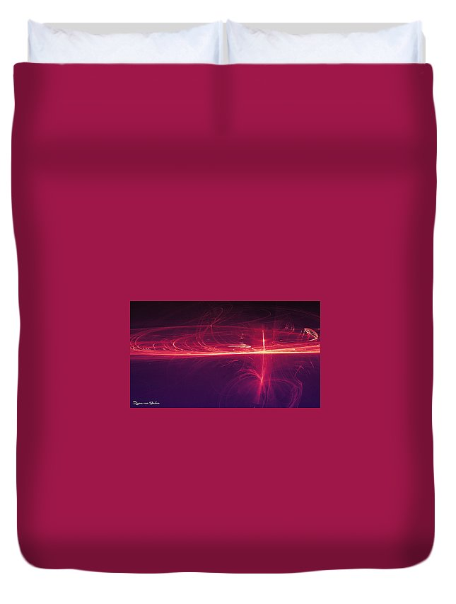 Space Duvet Cover featuring the digital art Space 4 by Riana Van Staden