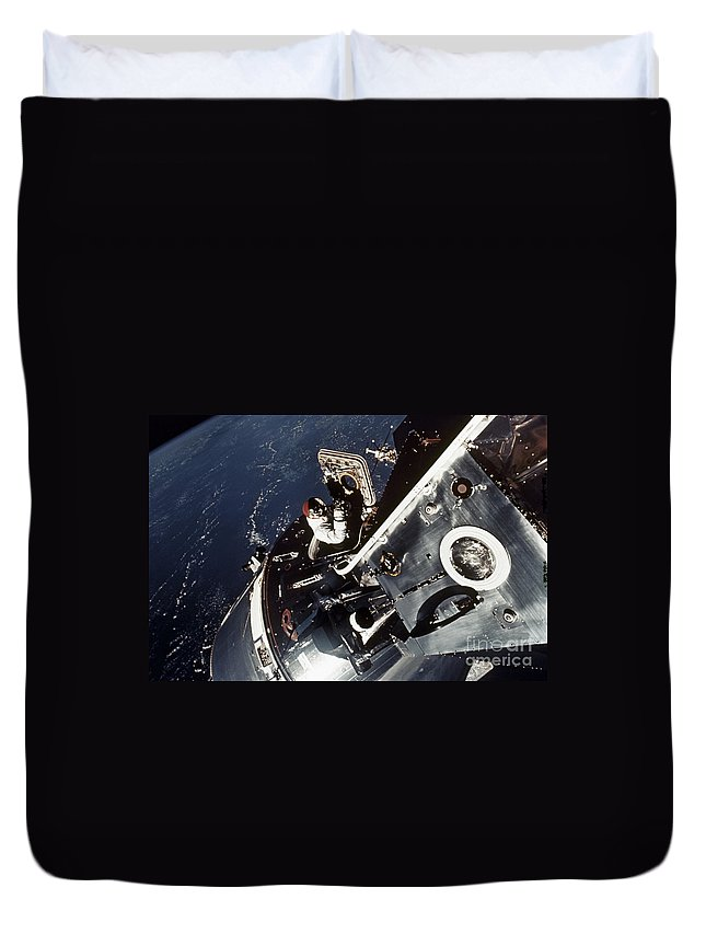 1969 Duvet Cover featuring the photograph Space: Apollo 9 by Granger