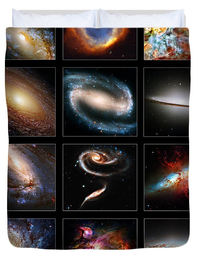 Meathook Duvet Cover featuring the photograph Space Beauties by Ricky Barnard