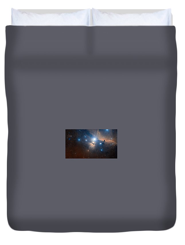Space Duvet Cover featuring the digital art Space by Dorothy Binder