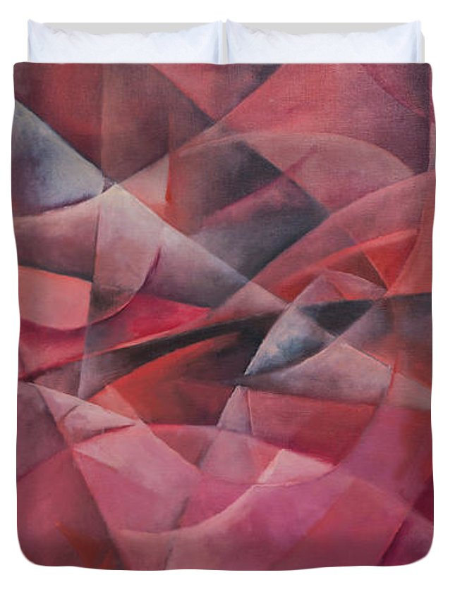 Abstract Duvet Cover featuring the painting Space by Ilgar Talibov