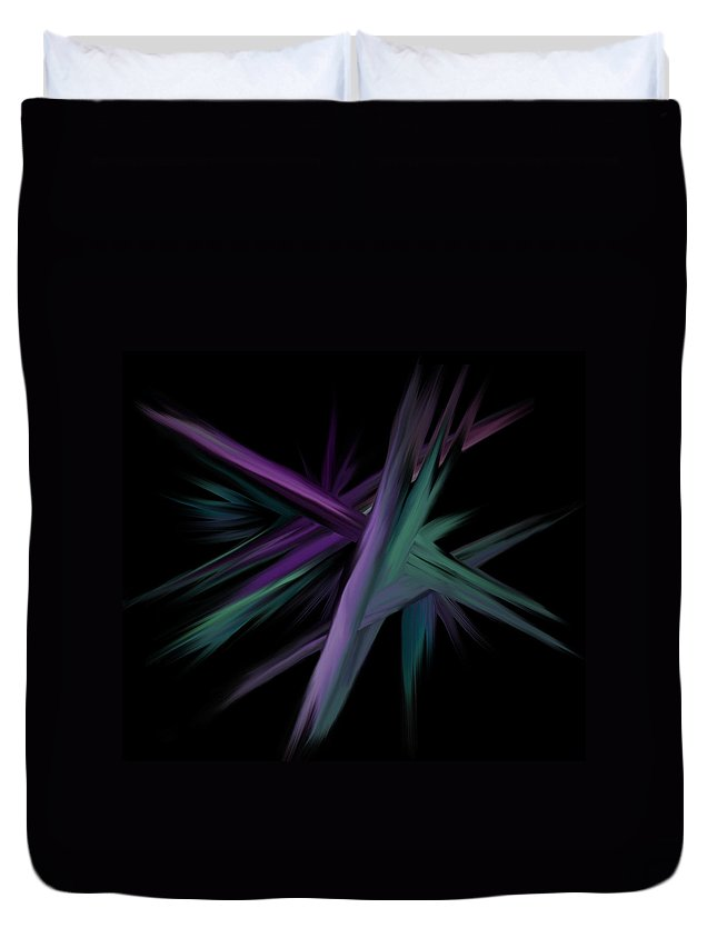 Shards Duvet Cover featuring the digital art Space Shards by BJ Crank