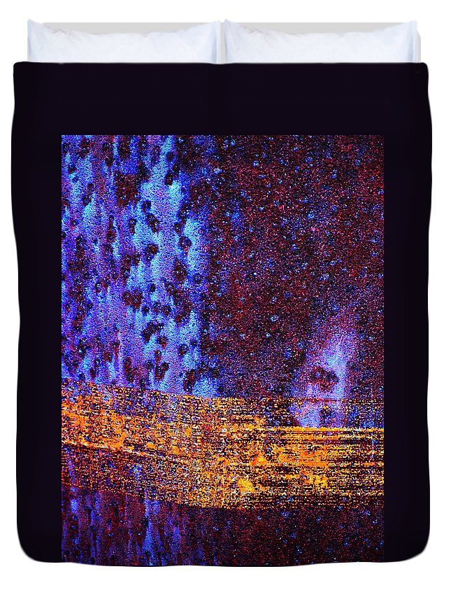 Abstract Duvet Cover featuring the photograph Space Time Continuum by Skip Hunt