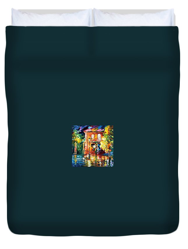 Afremov Duvet Cover featuring the painting Spain by Leonid Afremov