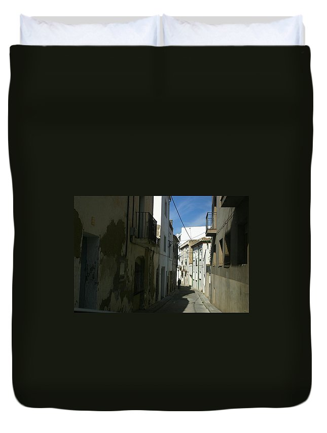 Spain Duvet Cover featuring the photograph Spain One Way by Minaz Jantz