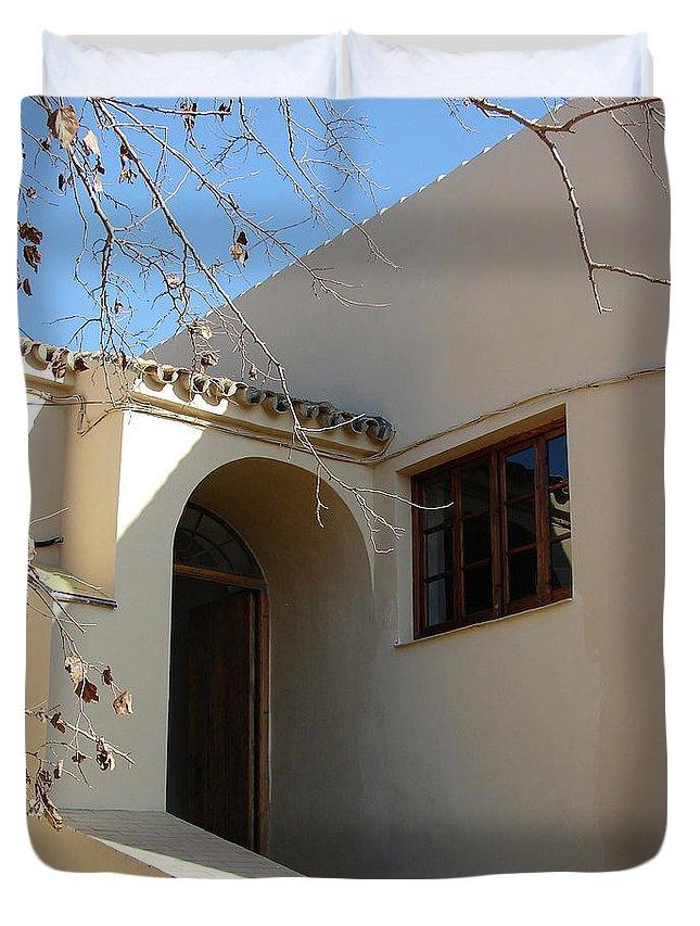 Rota Duvet Cover featuring the photograph Spanish Archway by Brett Winn