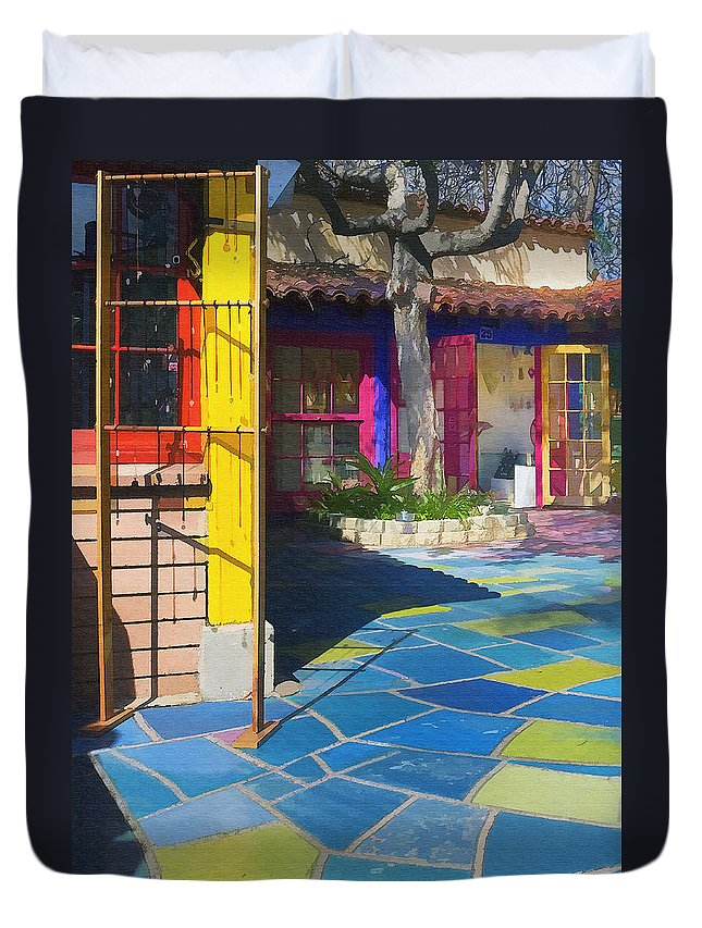 Architecure Duvet Cover featuring the photograph Spanish Village by Sharon Foster