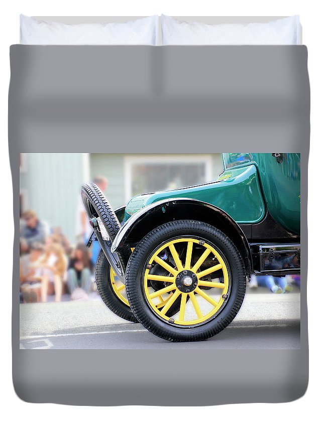 Ford Duvet Cover featuring the photograph Spare Tire by Pauline Darrow