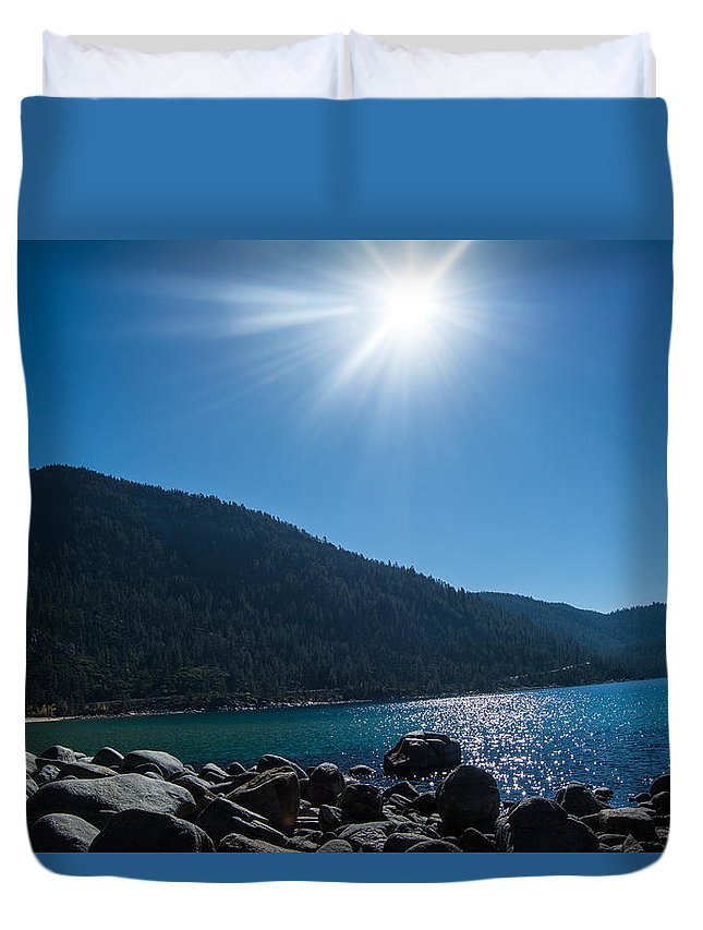 Landscape Duvet Cover featuring the photograph Sparkle by Jamie Brewer