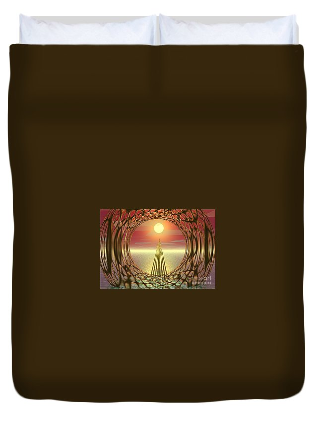 Abstract Duvet Cover featuring the digital art Sparkles Of Light by Oscar Basurto Carbonell