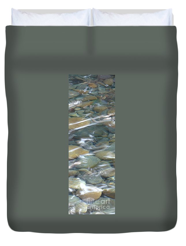 Sparkling Water Duvet Cover featuring the photograph Sparkling Water On Rocky Creek 1 by Carol Groenen